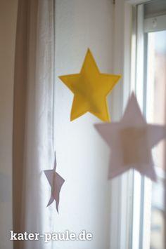 Adventskalender Idee | Papiersterne zusammen nähen und befüllen | Kater Paules 1. Advent! | Kinder | Weihnachten