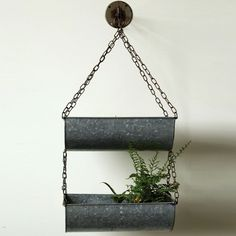 2 Hanging Buckets With Wall Hook