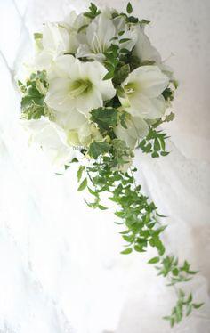 ブーケ スリムキャスケード アマリリス : 一会 ウエディングの花