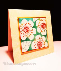 flower stamp, Hero arts stamp I believe, watercolor or distress?,  wienerhoneymooners