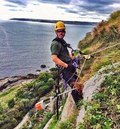 Gardening on a cliff edge.
