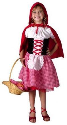 Girls Fancy Dress Costume L'il Red Riding Hood Medium Fairytale