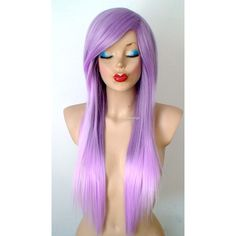 Ombre Wig scene/emo Hair Wig Pastel Lavender Wig Long Straight Light... ($150) ❤ liked on Polyvore featuring beauty products, haircare and hair styling tools