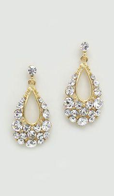 Austrian Crystal Mina Earrings in Gold
