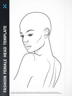 Hairstyle - Fashion Head Template