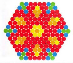 Image result for small and easy perler beads hexagon