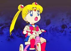 Biking Serena Tsukino
