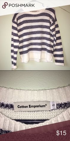 Blue and white striped sweater Blue and white striped sweater. Urban Outfitters Sweaters Crew & Scoop Necks