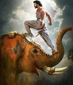 #Prabhas standing on elephant. New #Bahubaliwallpaper #bahubali2 #baahubali2