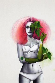 Realizadas por la ilustradora Jenny Liz, se presentan al mundo estas hermosas ilustraciones de moda que se inspiran en la flora y la fauna, las mujeres modernas, estilo clásico, los desnudos y la silueta sensual de las féminas.