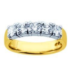 Kultajousi Princess timanttisormus 1,00ct 14K 3940€