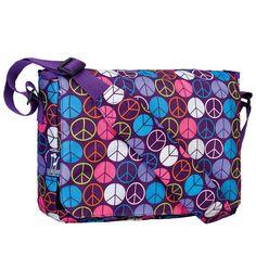 My Sweet Dreams Baby - Kid's Messenger Bags- Peace Signs Purple (http://www.mysweetdreamsbaby.com/wmessengerbags.htm)