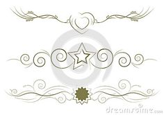 Ornamental rule lines for designs and decoration.