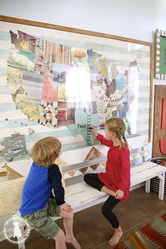 how to make a large educational map of America and the handmade home book series challenge for 9 other amazing bloggers!