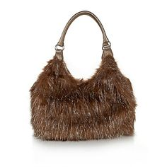 e7629c754e Joan Boyce Faux Fur Metallic Bag Metallic Bag