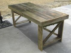 perhaps a dining room  Pallet table