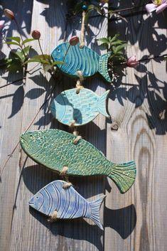 Windspiele - Fische an der Leine - ein Designerstück von Konform-art bei DaWanda