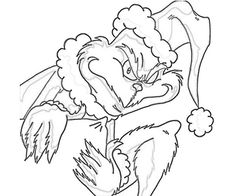 Free Printable The Grinch Bad Mood Coloring Pages