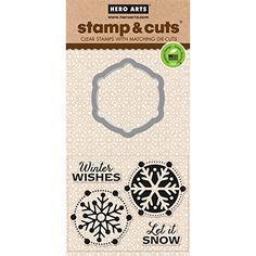 Hero Arts Scrapbooking Stamp and Die Cuts, Let it Snow Hero Arts http://www.amazon.com/dp/B00OY1E66A/ref=cm_sw_r_pi_dp_VZ64vb04RSV49