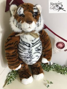"Kimba the Tiger from the 2017 Collection by Charlie Bears, able to Stand Unaided 76cm (30"") as our first delivery of him has sold out. Pre-order yours today from Magpies Gifts to save disappointment. http://magpies-gifts.co.uk/kimba-by-charlie-bears.html #kimba #tiger #giant #big #large #charliebears #2017collection #magpiesgifts #tragomills #newtonabbot #devon"