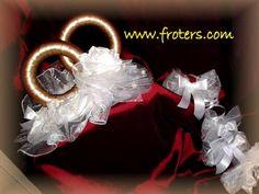 Dekoracja ślubna samochodu w Froters na DaWanda.com