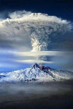 Mt. Ararat Erupting, Turkey