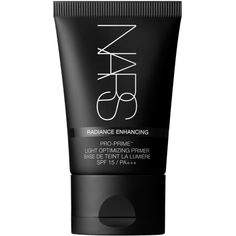 Nars Pro-Prime Light Optimising Primer ($39) ❤ liked on Polyvore featuring beauty products, makeup, face makeup, makeup primer, fillers, beauty, black, accessories, black face makeup and nars cosmetics