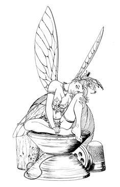 @deviantART Picks: Week of 4/06/2014 #BlackWidow #Maleficent #GameOfThrones #Hobbit | Images Unplugged Fairy Coloring Pages, Adult Coloring Pages, Coloring Sheets, Coloring Books, Colouring, Fairy Drawings, Relaxing Art, Tinkerbell, Fairy Art