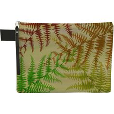 Fern Nature Pouch Carry All, Zippered Clutch, Big Large, For Makeup... (1.495 RUB) ❤ liked on Polyvore featuring beauty products, beauty accessories and bags & cases