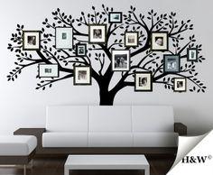 Family Photo Tree Wall Decals Vinyl Sticker Home by HomeWall Family Tree Wall Decal, Kids Wall Decals, Family Wall, Nursery Wall Decals, Vinyl Wall Decals, Wall Murals, Family Tree Photo, Photo Tree, Living Room Redo