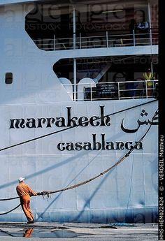 Marruecos, Tanger, barco Marrakech conecta Tánger con Sete, Francia