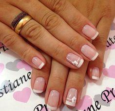 French Nails, Acrylic Nails, Nail Designs, Hair Beauty, Nail Art, Ideas, Bride Nails, Designed Nails, Work Nails