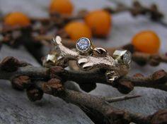 14k gold ring, 0.65ct brilliants, made by Loenstrup Smykke Design - Nynne Kegel - Lønstrup