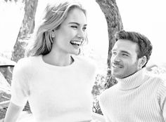 Lily James and Richard Madden for People Magazine