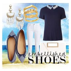 """""""beach"""" by elifernandarg ❤ liked on Polyvore featuring Talbots, Dorothy Perkins, Barbour, New Look, Elizabeth and James and BaubleBar"""