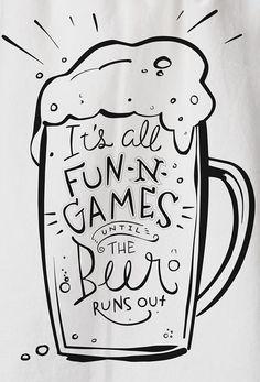 Beer Runs Out Tea Towel by Primitives by Kathy on Dish Towels, Tea Towels, Beer Olympics Party, Beer Quotes, Beer Humor, Beer Signs, Beer Festival, Wine And Beer, Beer Lovers