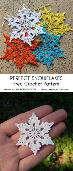 Most current Photographs thread Crochet Doilies Thoughts Perfect Snowflakes Free Crochet Pattern – Crochet Motifs, Thread Crochet, Crochet Crafts, Crochet Projects, Knit Crochet, Crochet Doilies, Crochet Ideas, Crochet Slippers, Crochet Afghans