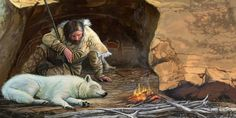 Dan Burr - Cro-Magnon and his Dog in Paleolithic Europe