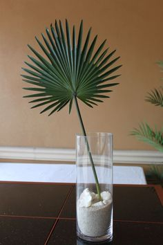 Wedding Lakeside - Cut palmetto fronds from the lake and use in vases or baskets - lay flat on table under centerpiece - hang upside down on post with bow on stem