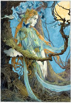 The Forest Dryad by Ed Org ~ Inspired by myth, legend, folk and fairytale, Ed's…
