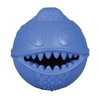 Jolly Pets - Monster Ball - Blue - 3.5 Inch - 788169001358. • Unevenly Weighted With Its Cool Mohawk and Goat-Ee, When It Bounces It Bounces Everywhere • Can Be Filled With Treats Or Food