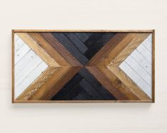 Check out our reclaimed wood wall art selection for the very best in unique or custom, handmade pieces from our shops. Reclaimed Wood Wall Art, Reclaimed Wood Furniture, Wooden Wall Art, Wall Wood, Wood Artwork, Industrial Furniture, Diy Wood, Wood Mosaic, Mosaic Wall Art