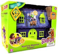 Scooby-doo Mystery Mansion Playset by cartoon network. $56.94. Haunted suit of armour. Sticky spiders web. Working trap doors. Revolving bookcase. The huge Scooby Doo Mystery Mansion play set has 13 features including a revolving bookcase, sticky spiders web, haunted suit of armor, working trap doors and more, for loads of Scooby fun!