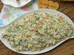 Yoğurtlu Tavuklu Arpa Şehriye Salatası Resmi