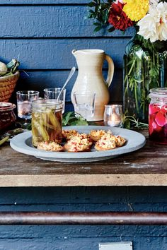 August 2016 Recipes: Pimiento Cheese Pickled Okra