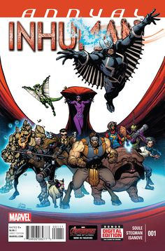 All the threads of the first year come to a head in this epic oversized Annual! Medusa! Lash! Ennilux! Reader! Lineage! What will be left standing before Secret Wars pulls it all crashing to the floor