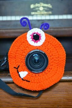 Knotty Knotty Crochet - camera lens funny to get kids to smile