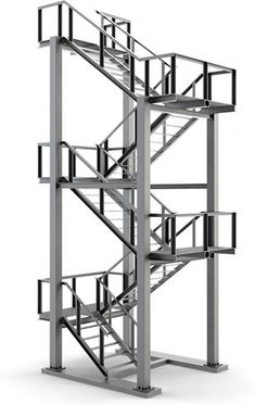 Metal stairs - Annette Home Balcony Grill Design, Balcony Railing Design, Spiral Stairs Design, Staircase Design, Steel Gate Design, Staircase Handrail, Steel Structure Buildings, Model House Plan, Building Stairs