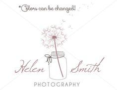 Dandelion Flower Mason Jar Premade Logo Design For by MadebyRin