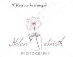 Dandelion Flower Mason Jar Premade Logo Design For by MadebyRin
